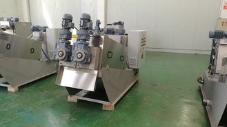 WWTP Sludge Dewatering Machine , Volute Dewatering Press Municipal Wastewater Treatment